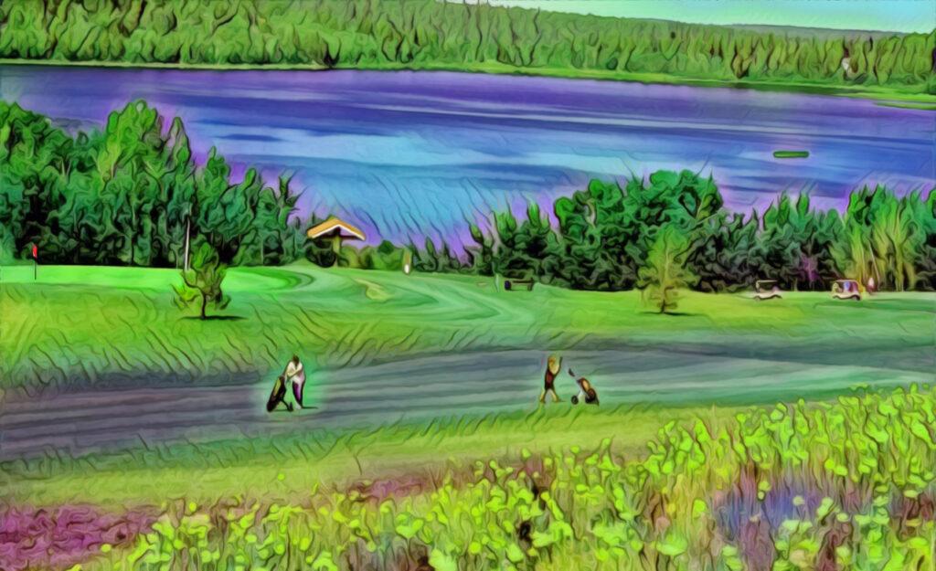 Stylized photo of 108 Golf Resort Hole 9